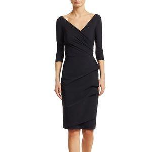 La Petite Robe Di Chiaraboni Black Ruched Sheath Dress Size 10